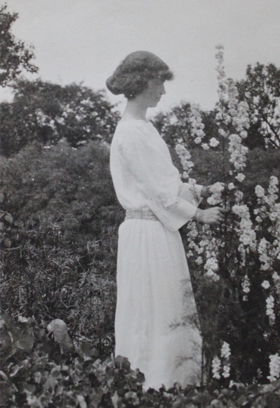 Edith in garden, upstate NY - photo